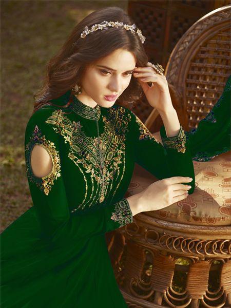 Latest Green Anarkali Suit