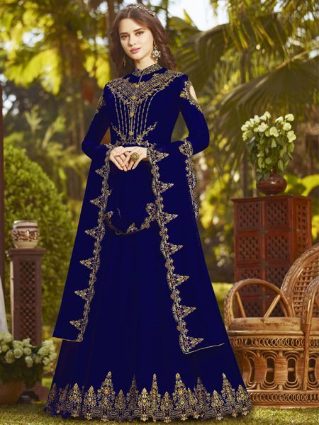 Buy Latest Blue Anarkali Suit Online in India- YOYO Fashion
