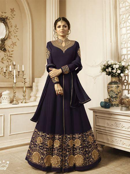 Buy Latest Abaya Brown Anarkali Dress Online - YOYO Fashion