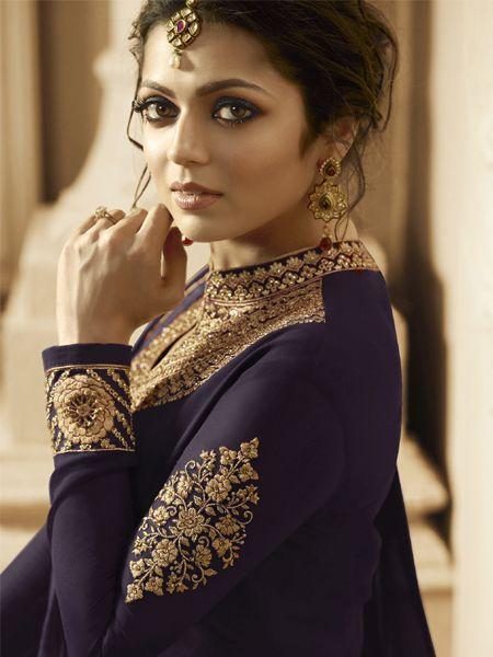 Abaya Brown Anarkali Dress Online - YOYO Fashion