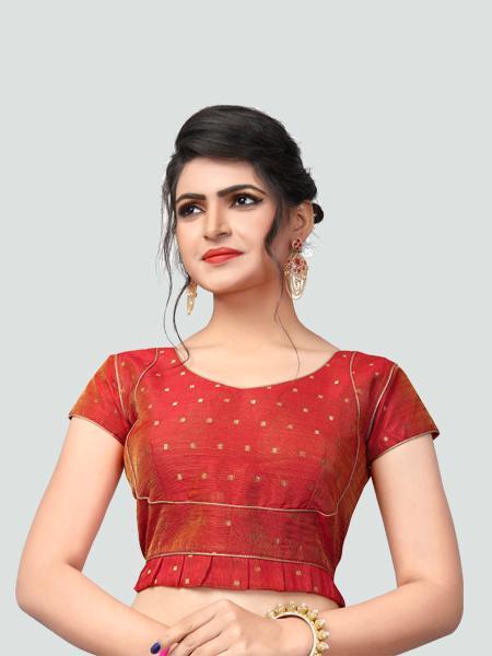 Buy Latest Red Silk Saree Blouse Online - YOYO Fashion