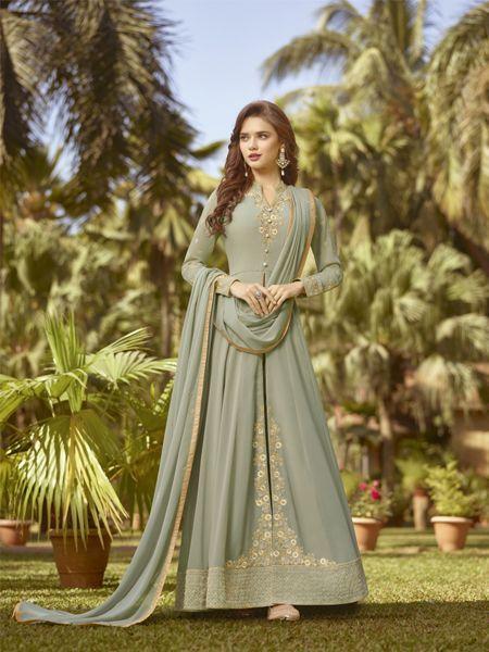 Buy Designer Anarkali Salwar Suit Online in India -YOYO Fashion