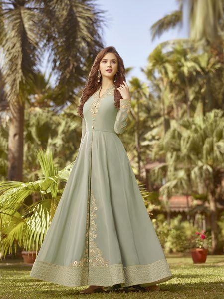 Buy Designer Anarkali Salwar Suit Online - YOYO Fashion
