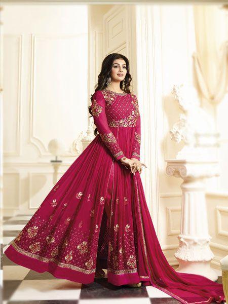 Buy Awesome Pink Anarkali Salwar Suit Online - YOYO Fashion