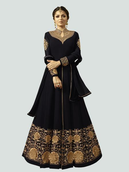 Buy Latest Black Anarkali Dress Online - YOYO Fashion
