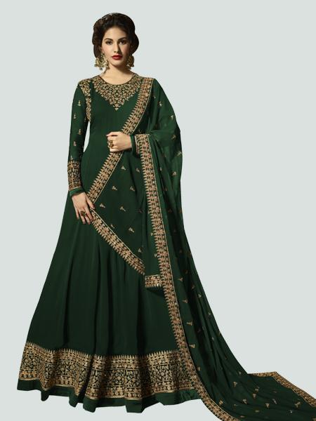Buy Latest Green Anarkali Dress Online - YOYO Fashion