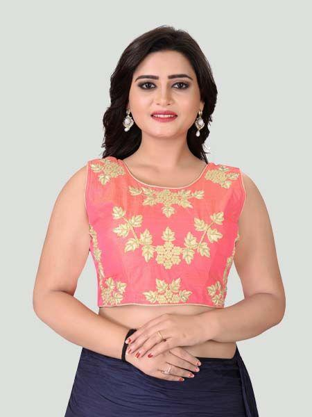 Buy Light Pink Round Neck Women's Stitched Blouse Online - YOYO Fashion