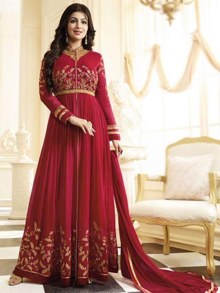 Buy Marvelous Red Anarkali Salwar Suit Online - YOYO Fashion.