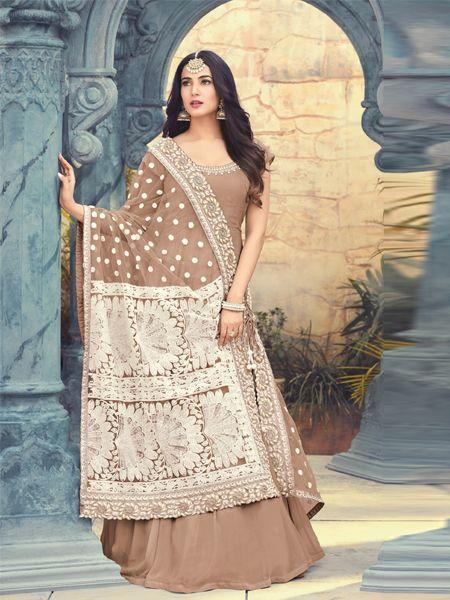Buy Resham Embroidered Coco Anarkali Suit Online - YOYO Fashion
