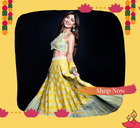 Shop Diwali Lehenga 2019 Online India - YOYO Fashion