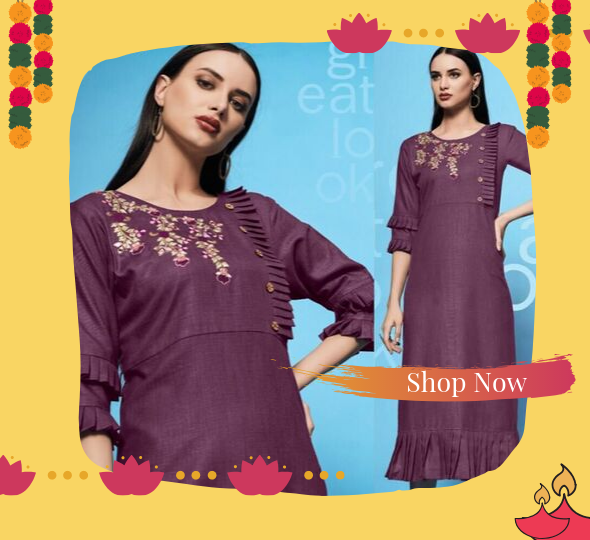 Shop Stylish Kurtis from Diwali Collection Online - YOYO Fashion
