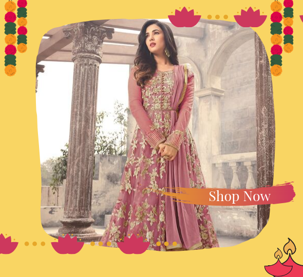 Shop Anarkali Dresses for Diwali Online - YOYO Fashion