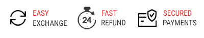 YOYO Fashion guarantees Easy Exchange, Fast Refund, and Secured Payments.